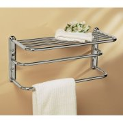 Gatco Double Towel Rack with Chrome Finish