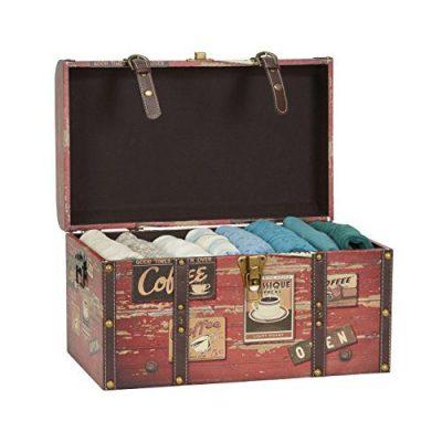 Household Essentials Medium Decorative Home Storage Trunk