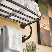 Moen Eva Collection 26-Inch Wide Bathroom Hotel-Style Towel Shelf