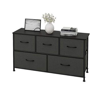 WLIVE 5 Drawers Dresser Storage Organizer Unit for Bedroom