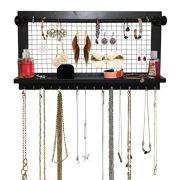 SoCal Buttercup Espresso Jewelry Organizer with Removable Bracelet Rod