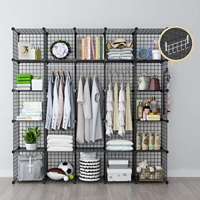 GEORGE&DANIS Wire Storage Cubes Metal Shelving Unit Portable Closet