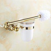 OWOFAN Toilet Brush and Holder Bathroom Storage Tissue Shelf Wall
