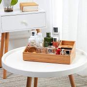 Vanity Drawer Beauty Organizer - Bamboo Cosmetic Storage Box