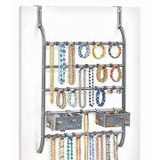 Lynk Over Door Or Wall Mount Jewelry Organizer Rack