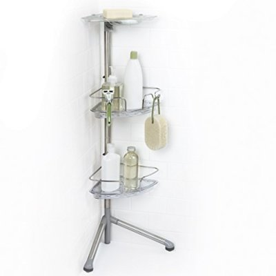 OXO Good Grips Stainless Steel Corner Standing Shower Caddy