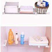 BAOYOUNI Expandable Closet Tension Shelf Rod Organizer Adjustable Storage