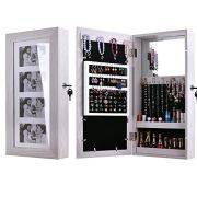 Bonnlo Photo Frames Jewelry Armoire Wall Mounted Cabinet