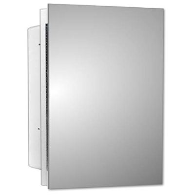 Mirrors and More Recessed Frameless Polished Edge Mirror Medicine Cabinet