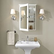 Crosley Furniture Lydia Mirrored Bathroom Wall Cabinet