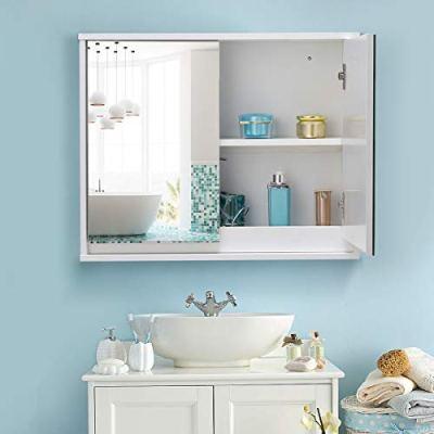 "TANGKULA 22"" Wide Wall Mounted Mirror Cabinet Bathroom"