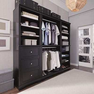 Bedford Black 3 Piece Closet/Storage System Organizer