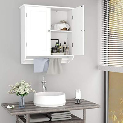 Homfa Bathroom Wall Cabinet, Over The Toilet Space Saver Storage