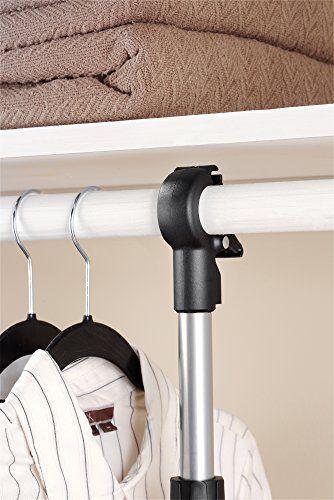 Whitmor 2 Shelf 2 Rod Closet System - Adjustable Closet