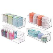 mDesign Storage Bins with Built-in Handles for Organizing Hand Soaps