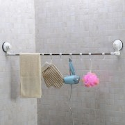 Long Adjustable Towel Bar With Suction Cup Tableware Cloth