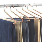XMZFQ Pants Hangers Open Ended Easy Slide Trouser Organizers