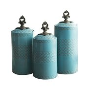 American Atelier Canister 3-Piece Ceramic Set Jar Container