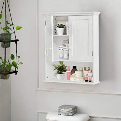 TANGKULA Wall Mount Bathroom Cabinet Wooden Medicine Cabinet Storage