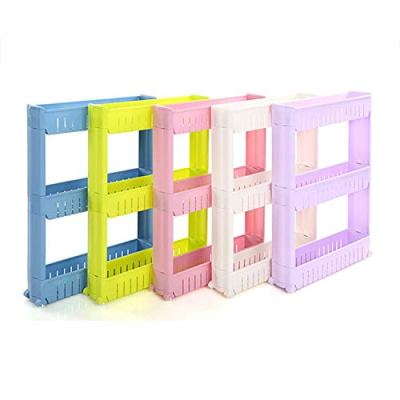 Movable Storage - Gap Shelf Skating Movable Plastic Bathroom Save Space