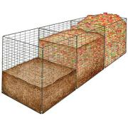 Gardener's Supply Company 3-Bin Wire Composter
