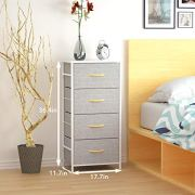 WeHome 4 Drawer Fabric Dresser Storage Tower, Organizer Unit for Bedroom