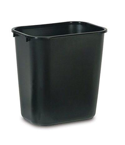 Rubbermaid Commercial Products Plastic Resin Deskside Wastebasket