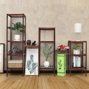 Bamboo Bathroom Shelf, 5-Tier Multifunctional Storage Rack Brown