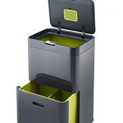 Joseph Joseph Intelligent Waste Totem Kitchen Trash Can and Recycle Bin Unit