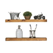 Del Hutson Designs-Rustic Pine Floating Shelves