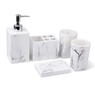 Jung Ford 5-Piece Bathroom Counter Top Accessory Set
