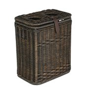 The Basket Lady Wicker Drop-in Divided Recycling Basket
