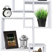 Greenco Decorative 4 Cube Intersecting Wall Mounted Floating Shelves
