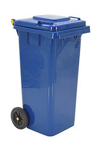 "Vestil Trash Can, Polyethylene, 18-1/2"" Width, 37-1/2"" Height"