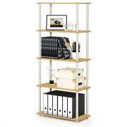 FURINNO Turn-N-Tube 5-Tier Compact Multipurpose Shelf