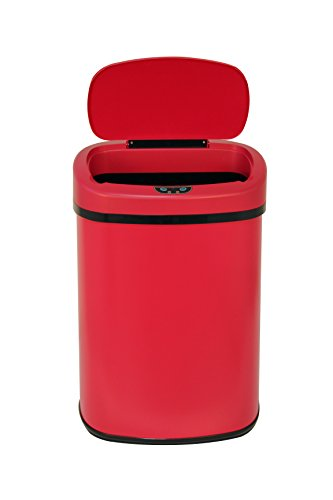 New Red 13-Gallon Touch Free Sensor Automatic