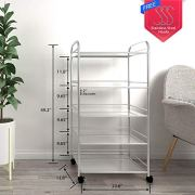 YKEASE 5-Shelf Shelving Units on Wheels Stainless Steel Kitchen Cart