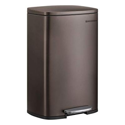 SONGMICS 13.2 Gal (50L) Kitchen Trash Can, Pedal Garbage Can