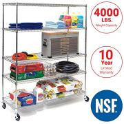 Seville Classics UltraDurable Commercial-Grade 5-Tier NSF-Certified Steel