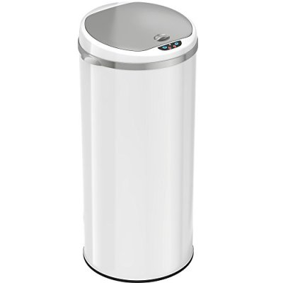 iTouchless 13 Gallon Touchless Sensor Trash Can with Odor Filter System