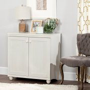 South Shore Small 2-Door Storage Cabinet with Adjustable Shelf