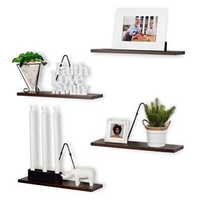 Rustic State Farmhouse Decor | Wall Mount Floating Shelves Wood