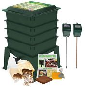 Worm Factory 360 Composting Bin + Moisture and pH Testing Meter