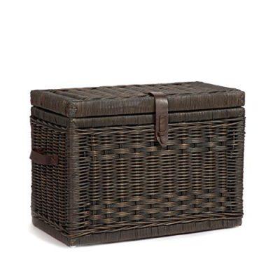 The Basket Lady Wicker Storage Trunk, Medium