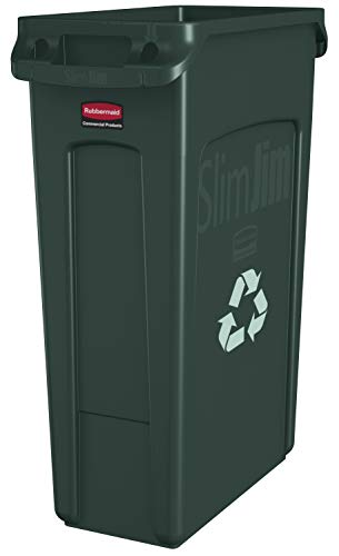 Rubbermaid Commercial Products Slim Jim Plastic Rectangular Recycling