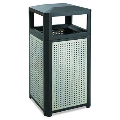 Safco Trash Can, 38 Gallon, Black