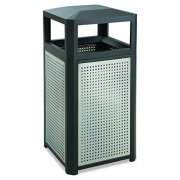 Safco Trash Can, 38 Gallon, Black