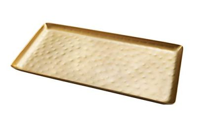 Alchemade Antique Brass Tray with Large Hammering