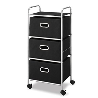Whitmor 3 Drawer Rolling Cart - Home and Office Storage