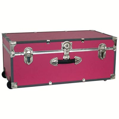 "30"" Footlocker Trunk with Wheels (Pink)"